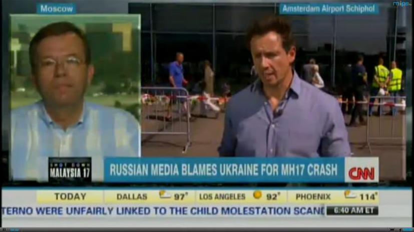 Ведущий RT потребовал от репортёра СNN фактов вместо обвинений в адрес России