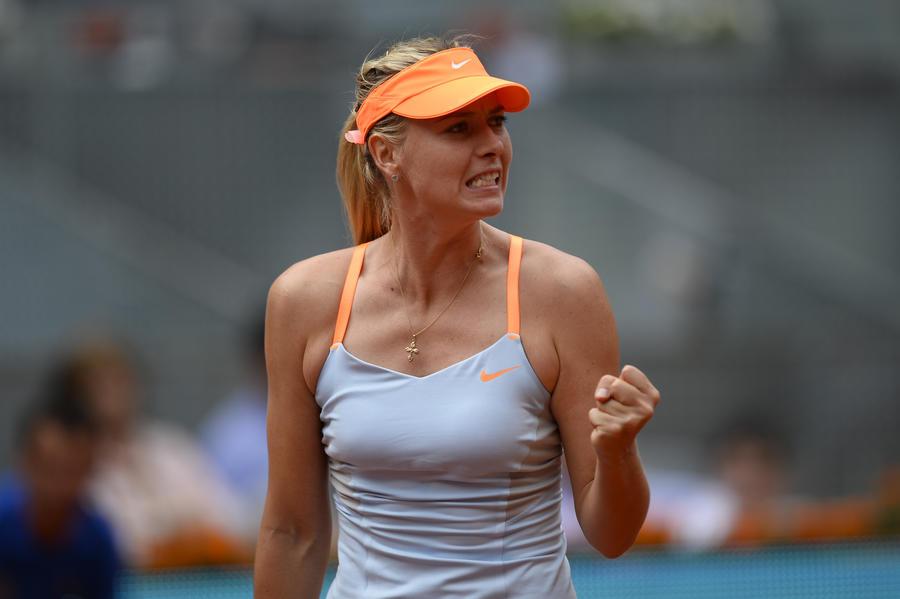 Мария Шарапова вышла в 1/4 финала турнира в Мадриде