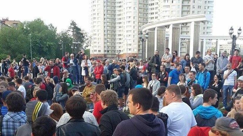 На митинг в память убитого фаната в Пушкино собрались около 500 человек