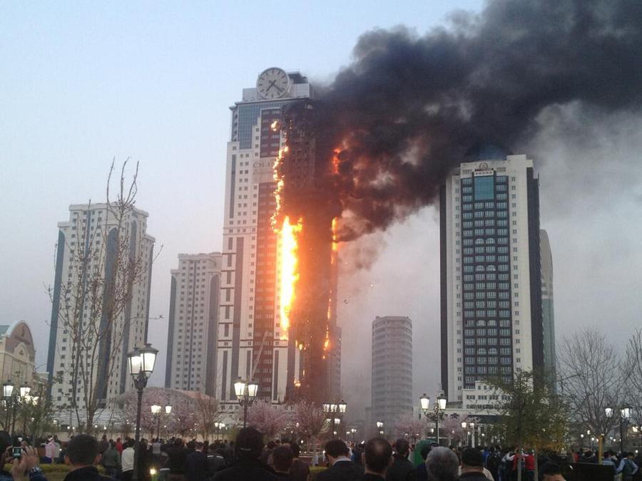 В Грозный вылетел пожарный вертолет из Минеральных Вод