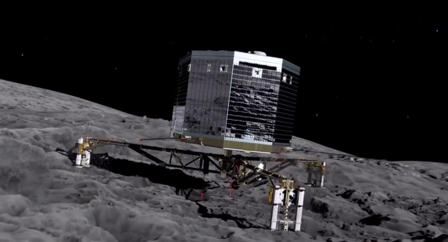 Зонд Rosetta впервые в истории осуществит посадку на комету на расстоянии 500 млн км от Земли