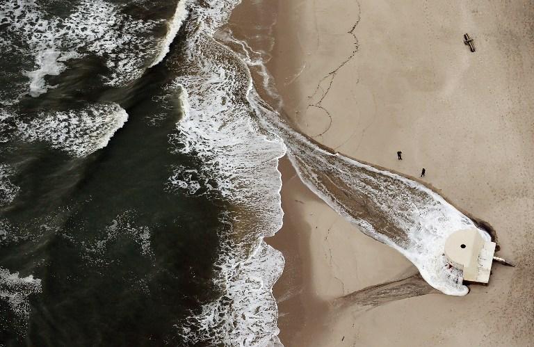 В пригороде Нью-Йорка в море попало более миллиона литров топлива после удара «Сэнди»