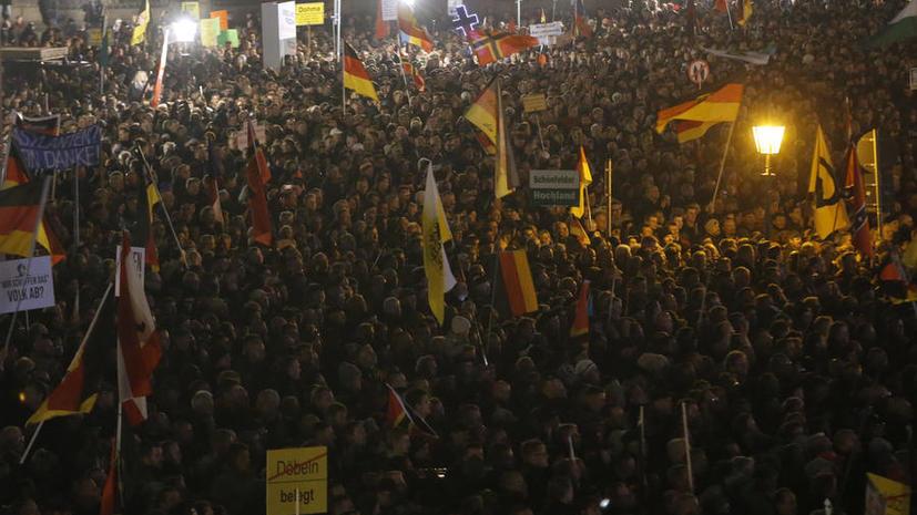 Продюсер видеоагентства RT Ruptly пострадал во время съёмок акции протеста в Германии