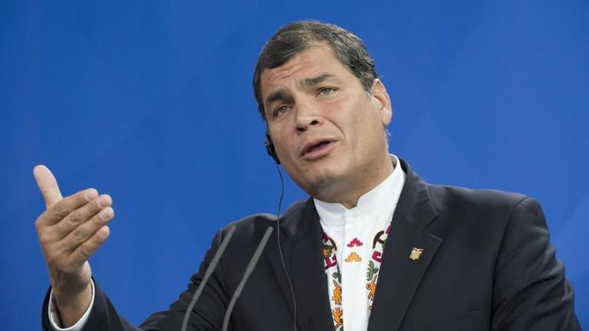 Рафаэль Корреа: Эквадор подойдёт к прошению Эдварда Сноудена с ответственностью