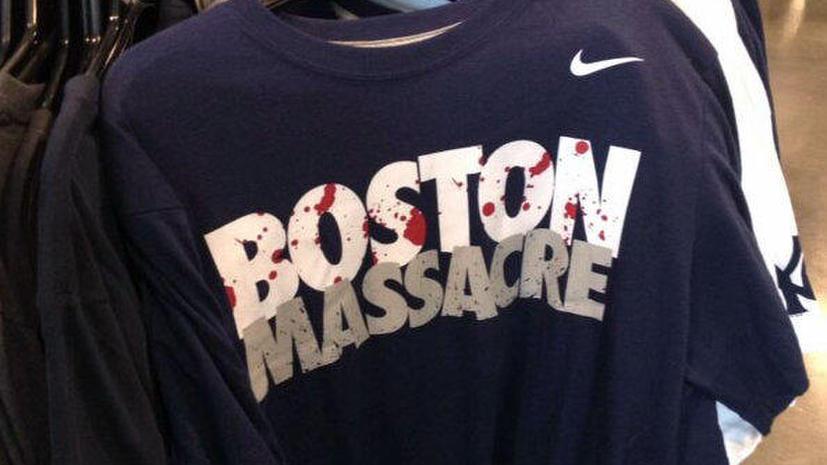 Nike перестанет продавать футболки с надписью «Бостонская резня», выпускавшиеся 35 лет
