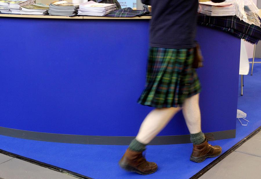 Шотландцы из Бостона не дают женщинам подсматривать за мужчинами в юбках
