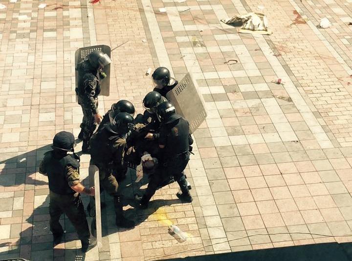 Беспорядки у здания Верховной рады — хронология событий