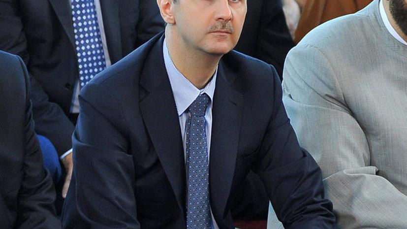 Башар Асад: В Сирии сценарий США и Великобритании вышел из-под контроля