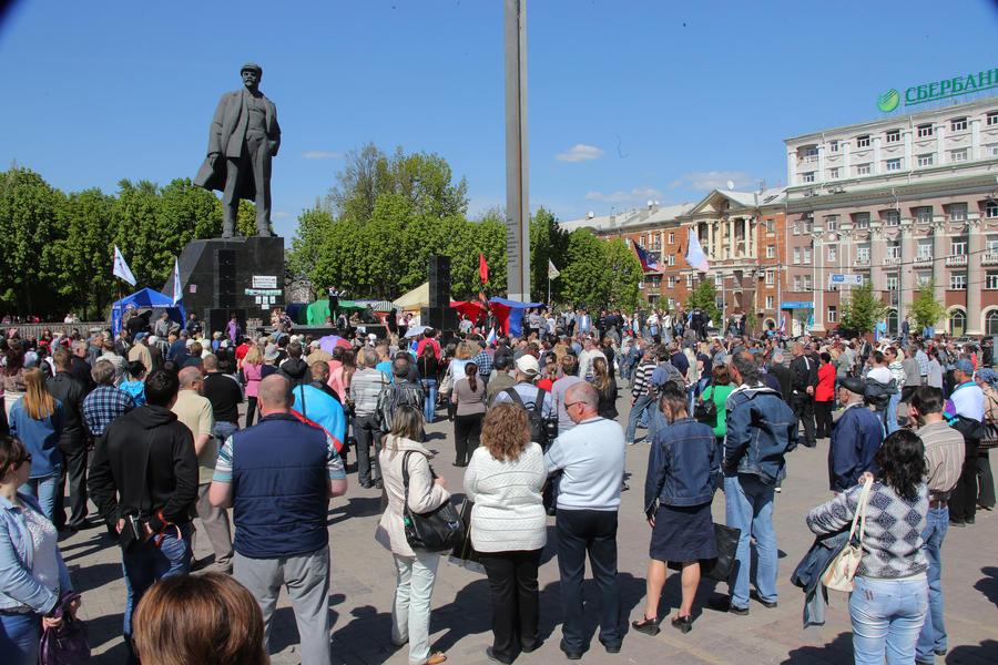 В Донецке первомайская демонстрация переросла в акцию протеста