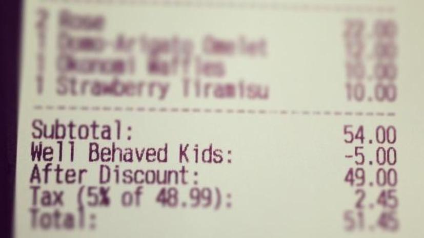 Ресторан в Канаде предлагает скидки воспитанным детям
