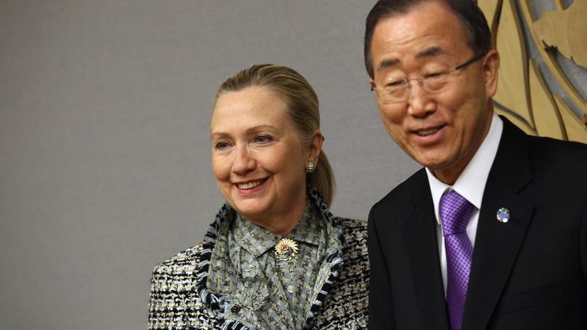 Хиллари Клинтон и Пан Ги Мун постараются урегулировать конфликт в Газе