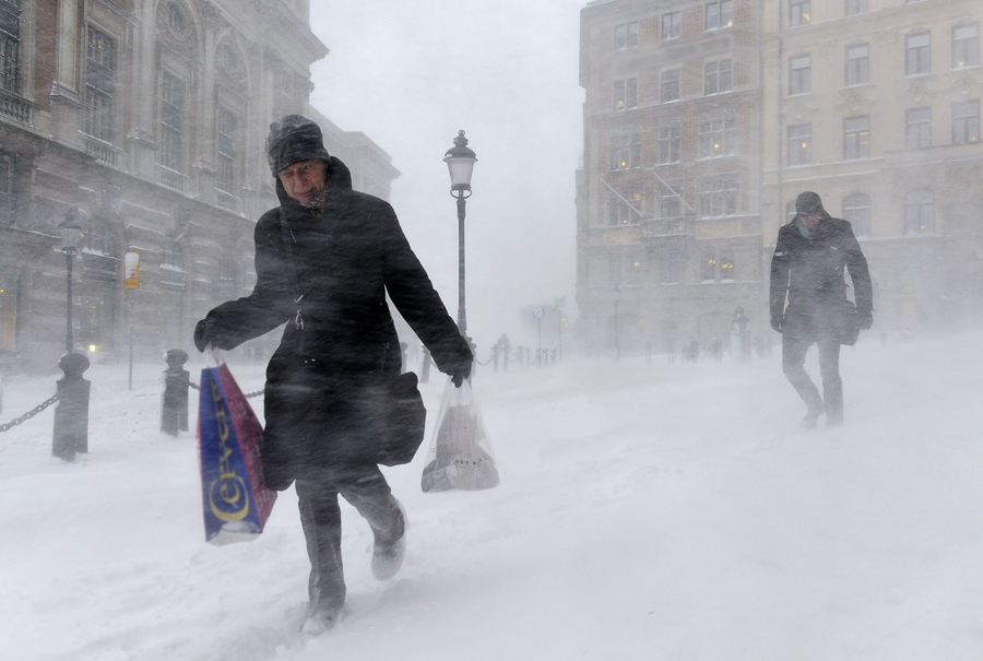 Снежный шторм прошел по Центральной и Южной Европе, погибли пять человек