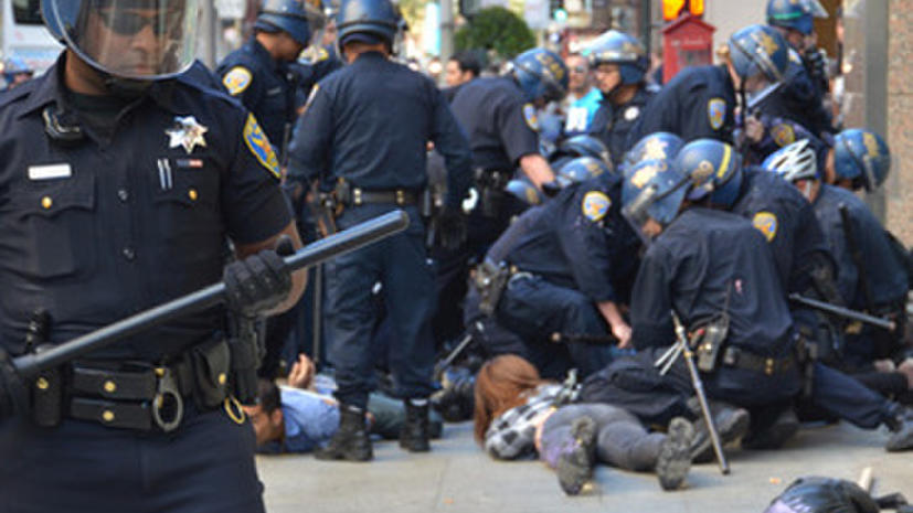 Антикапиталистический марш в Сан-Франциско