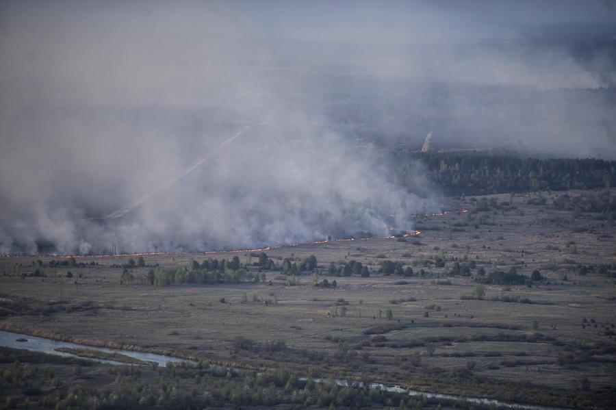В Чернобыльской зоне отчуждения снова вспыхнул пожар