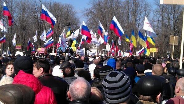 В украинских городах прошли митинги против новой власти