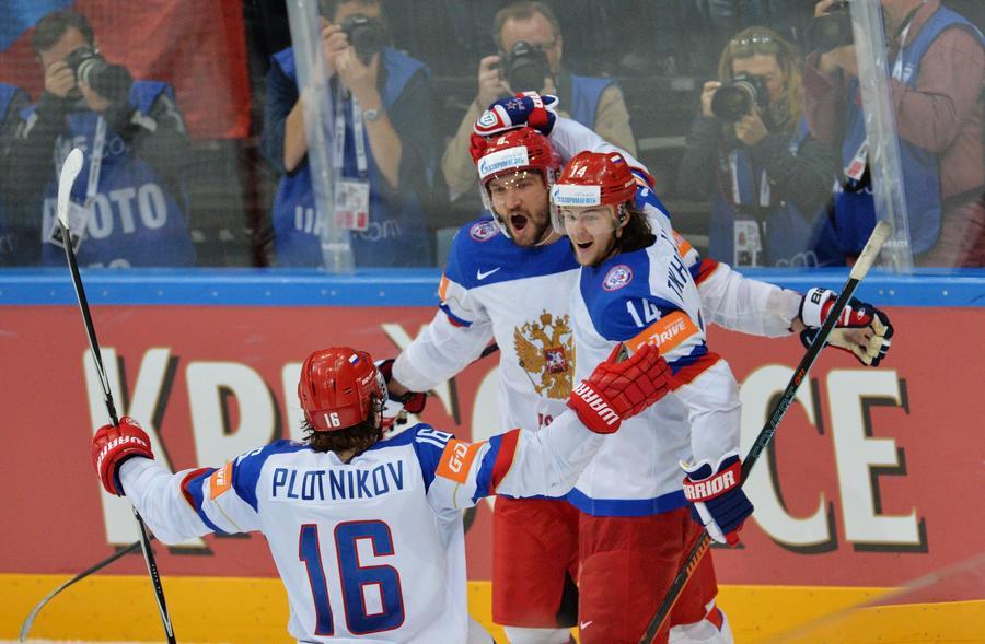 Сборная России одержала победу над командой США в полуфинале ЧМ по хоккею