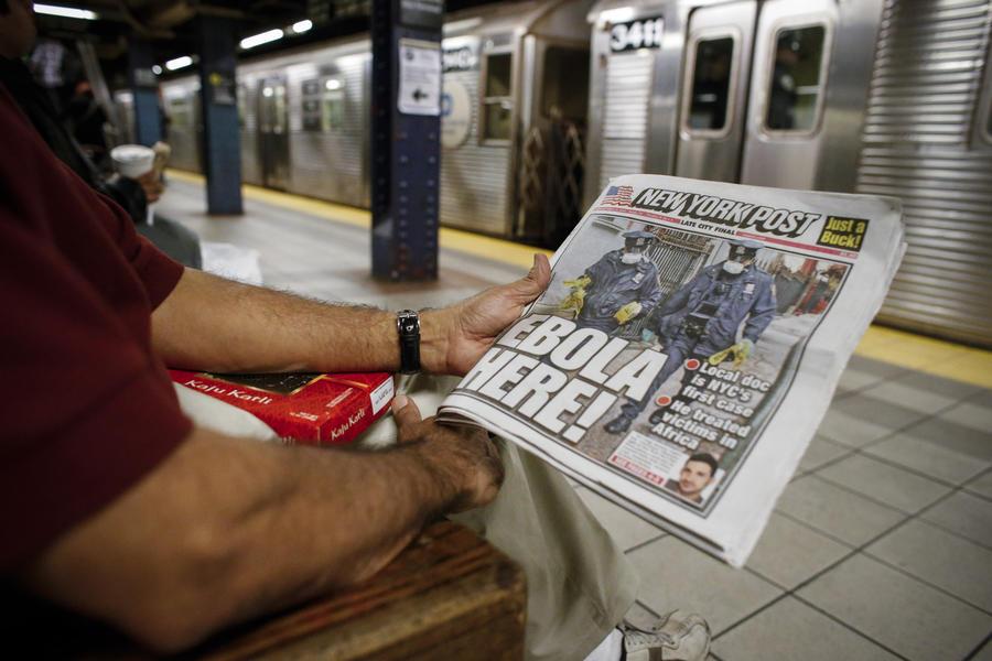 Эпидемия вируса Эбола порождает в США «охоту на ведьм»