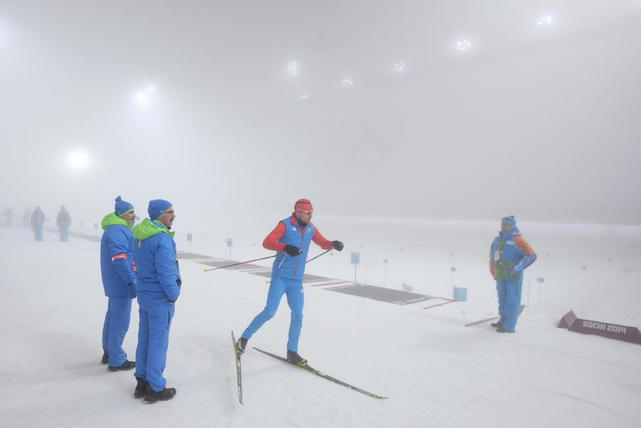 Сегодня в Сочи должны пройти сразу две биатлонные гонки, если не вмешается природа