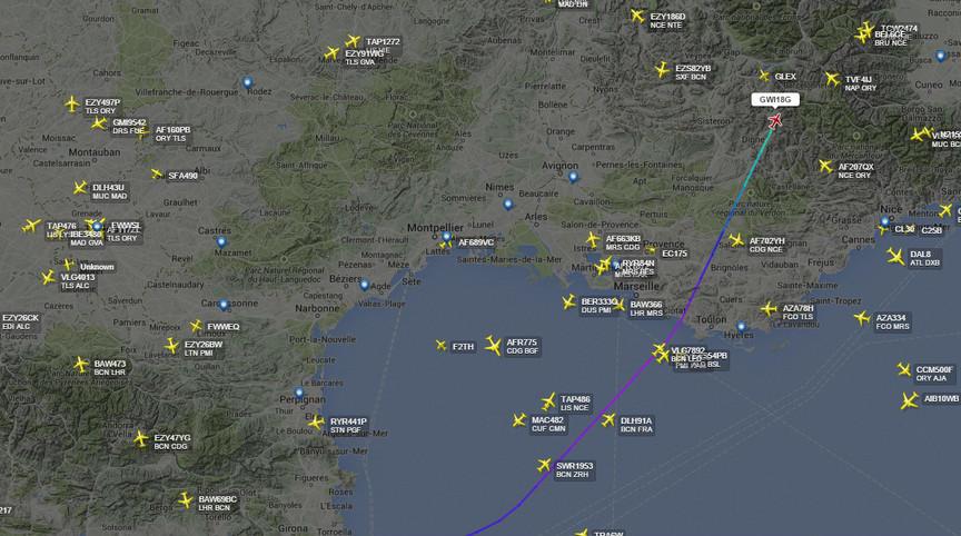 На юге Франции разбился самолёт со 148 пассажирами на борту
