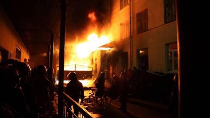 МВД Украины: Во Львове было совершено нападение на воинскую часть