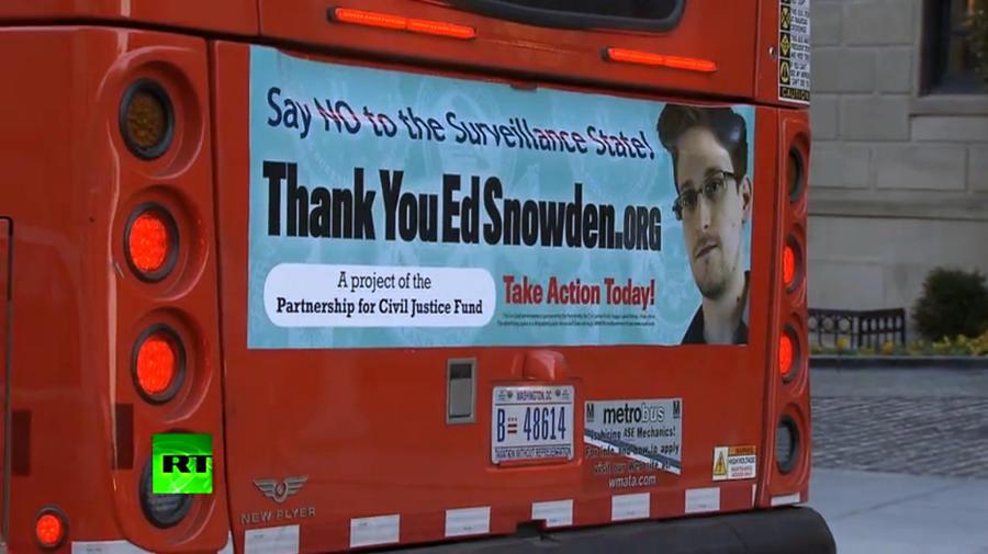 Фото Эдварда Сноудена появилось на автобусах Вашингтона
