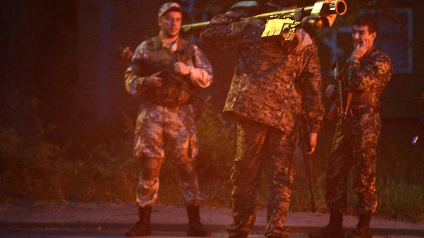 В Луганской области ополченцы взяли под контроль часть внутренних войск и взорвали склад с боеприпасами