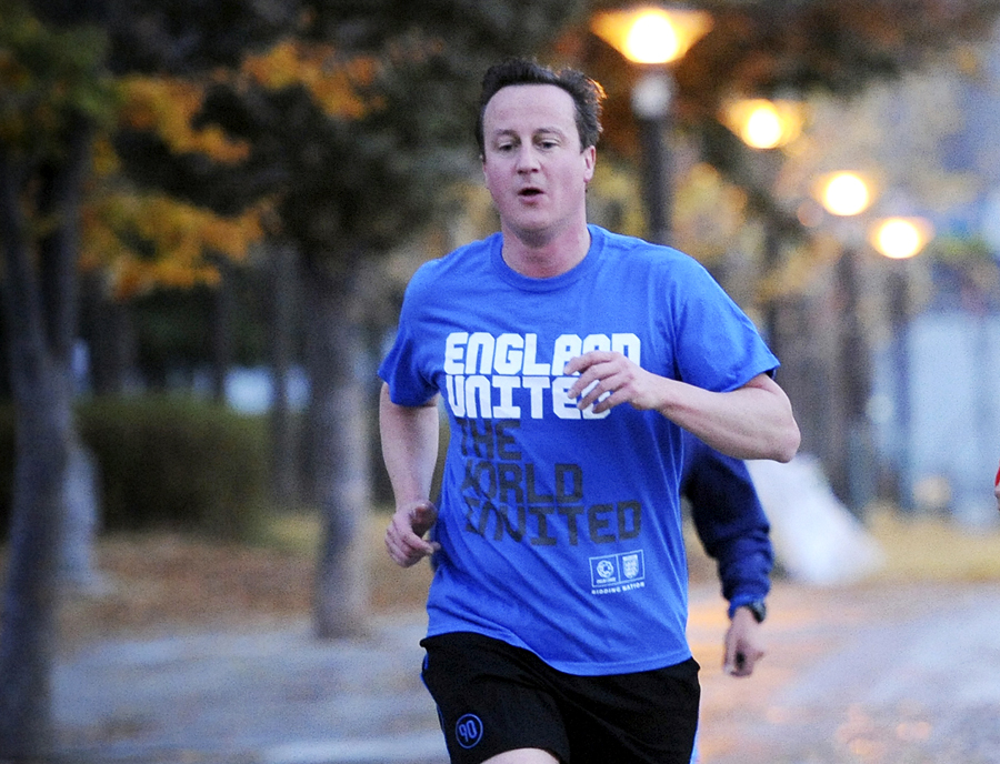 Дэвид Кэмерон поучаствовал в благотворительном забеге