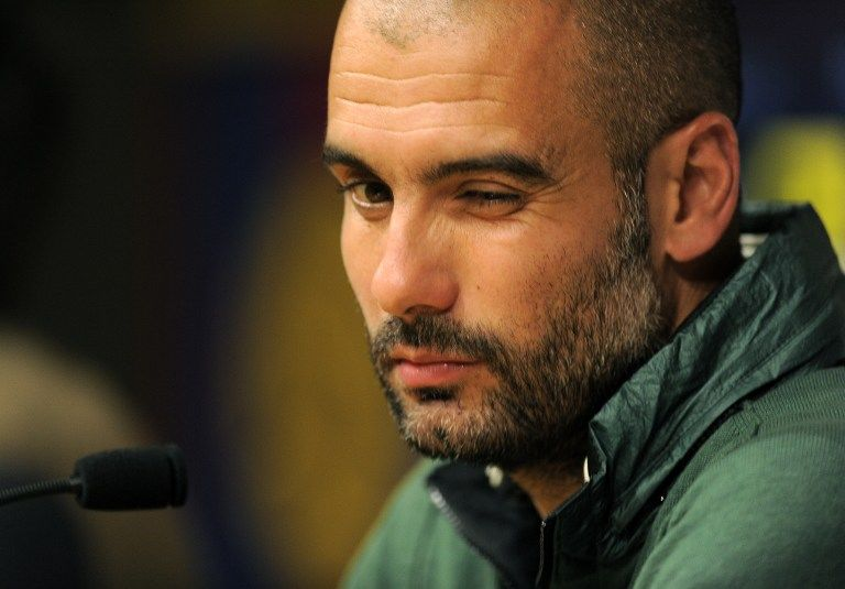 Бывший тренер «Барселоны» Хосеп Гвардиола следил за своими футболистами