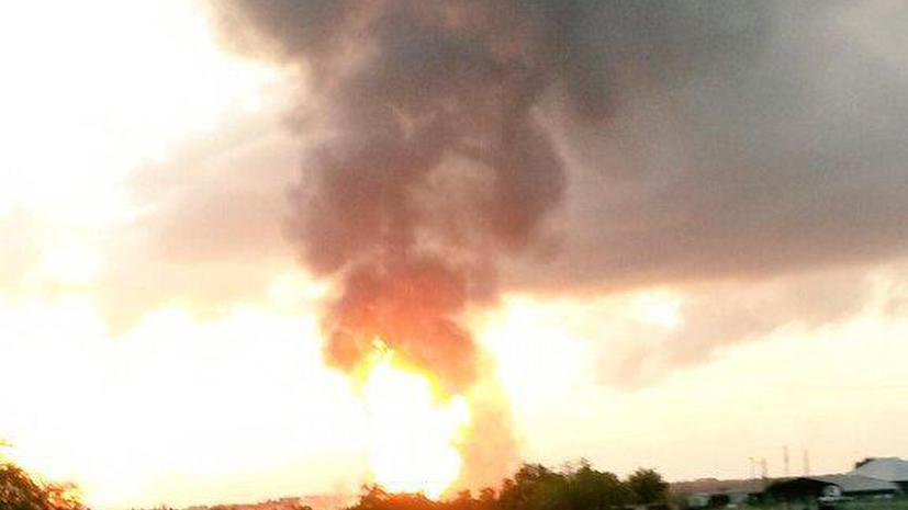 Взрыв газопровода в Техасе привёл к масштабному пожару