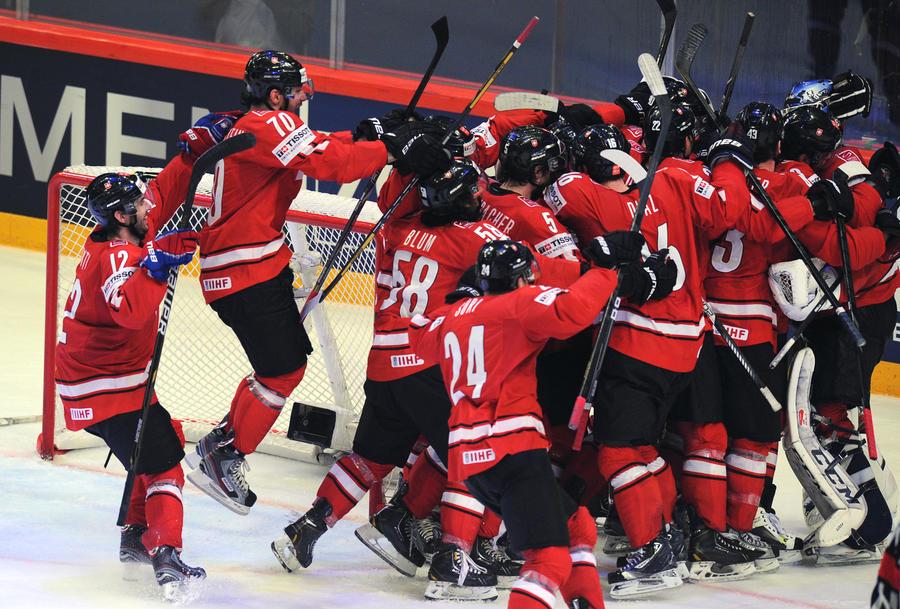 Швейцария обыграла США в полуфинале чемпионата мира по хоккею