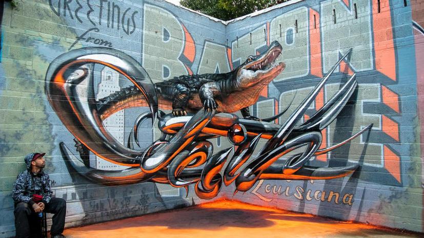 Художник из Португалии «поселил» аллигатора в американском музее