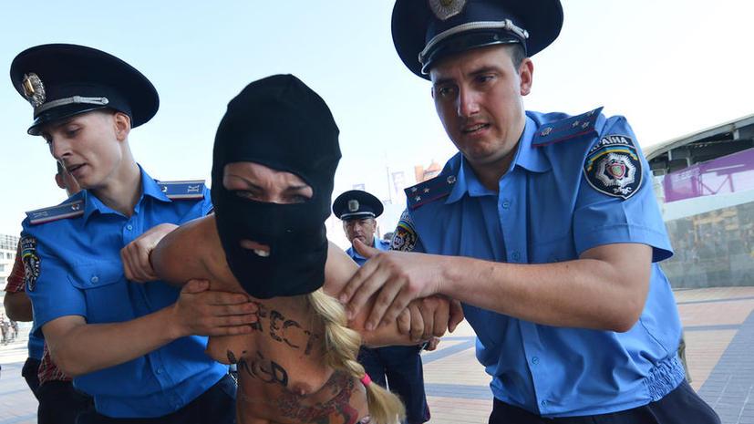 Активистки FEMEN планировали надругаться над крестом Андрея Первозванного в Киеве в день Крещения Руси