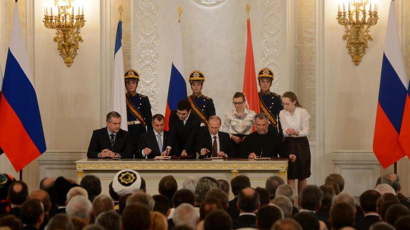 Крым считается принятым в состав РФ с 18 марта — даты подписания договора