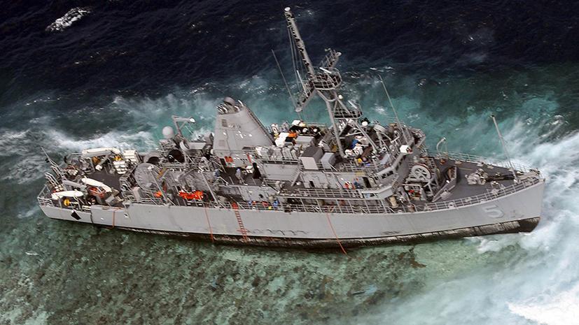 Американское судно напоролось на редкий коралловый риф близ Филиппин