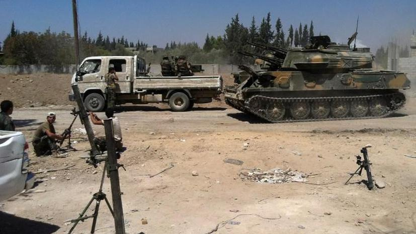 Сирийские СМИ сообщают об уничтожении 40 боевиков оппозиционных сил около Дамаска