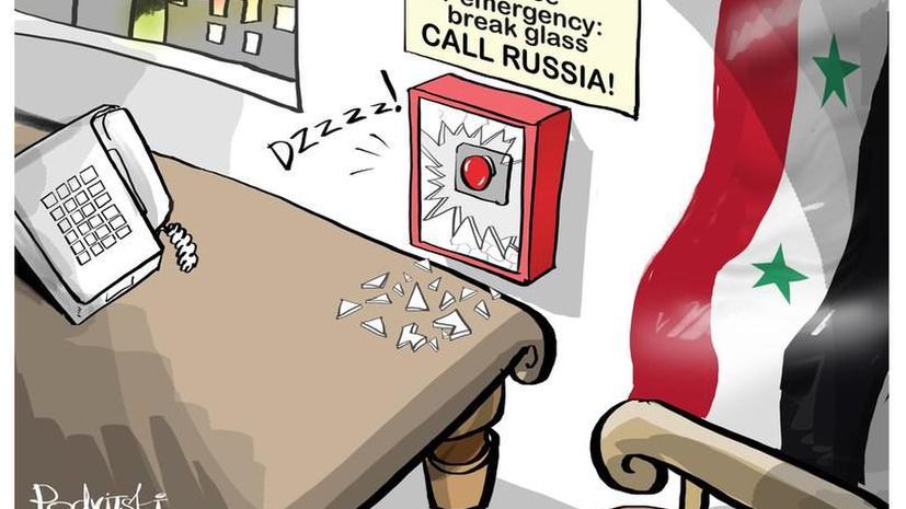 Сторонники российской операции в Сирии ведут войну карикатур