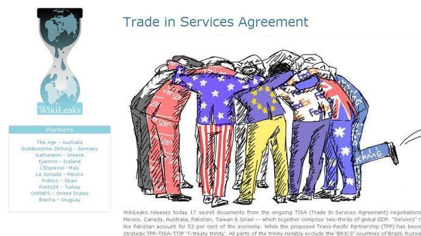 WikiLeaks: Цель тайного соглашения Транстихоокеанского партнёрства — давление на страны БРИКС
