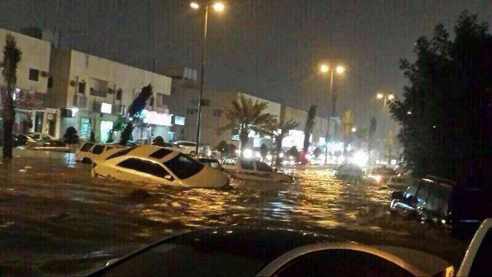 Столица Саудовской Аравии затоплена из-за проливных дождей