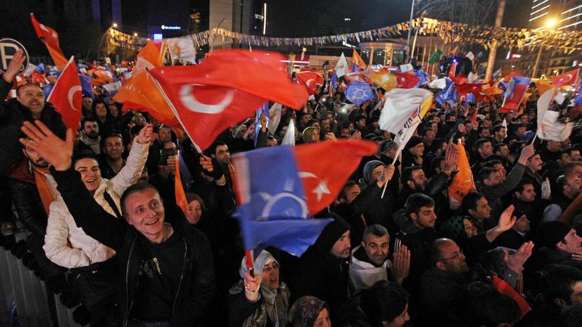Премьер Турции Эрдоган объявил о победе своей партии на местных выборах