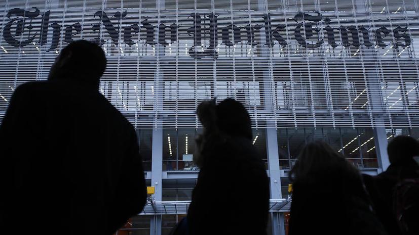 Американский журналист обвинил The New York Times в антироссийской пропаганде