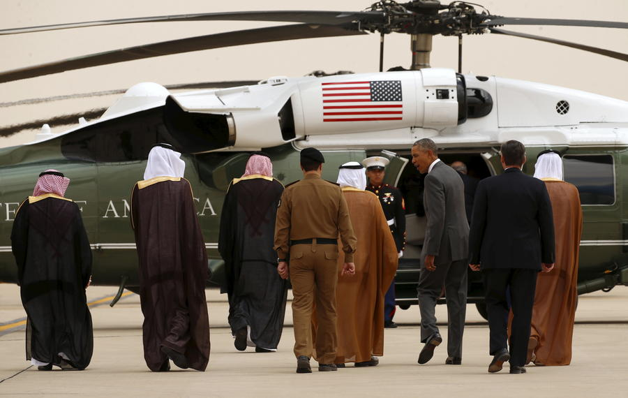 Долетел — и ладно: Обаму прохладно встретили в жарком Эр-Рияде