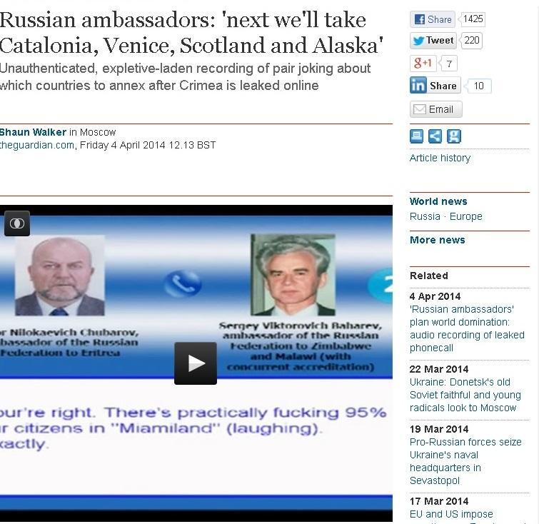 МИД РФ: Попавший в Сеть «разговор российских послов» - цинично состряпанная история