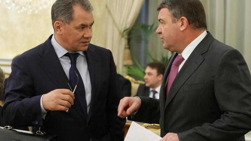 Сергей Шойгу: Сердюкова ввели в заблуждение