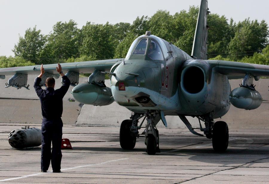 На Кубани разбился Су-25