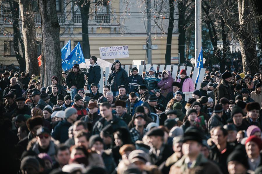 В столице Молдавии граждане митингуют против кандидата в премьер-министры