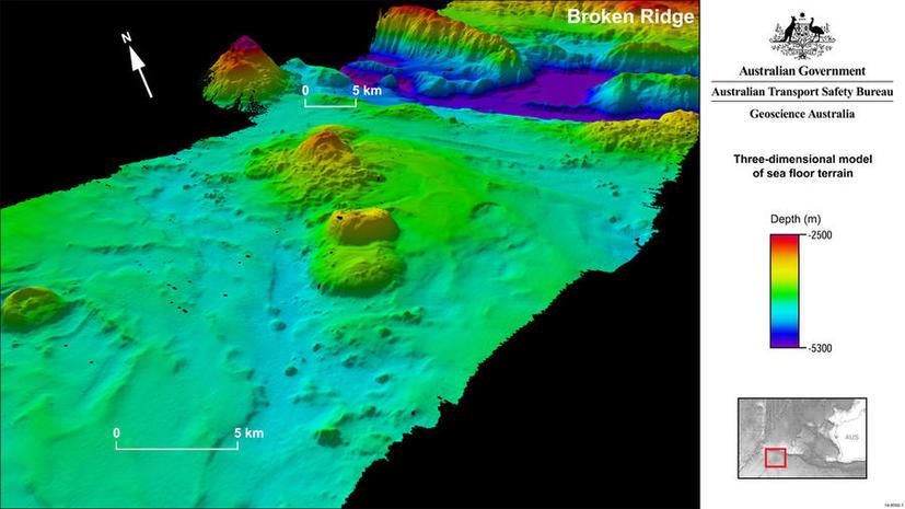 В поисках малайзийского Boeing учёные нашли в Индийском океане Монблан и Гранд-Каньон