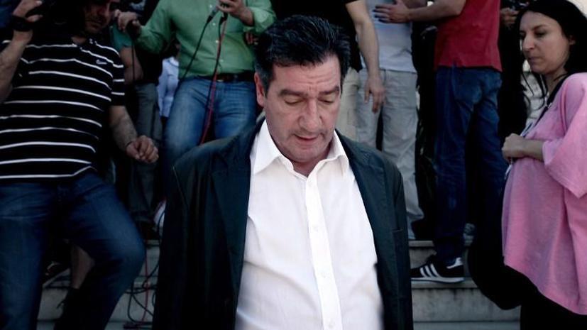 Митингующие госслужащие напали на мэра Афин