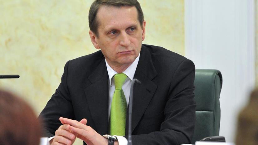 Сергей Нарышкин: В России поддержат свободный и демократический выбор населения Крыма и Севастополя