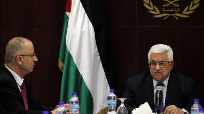 Аббас принял отставку нового палестинского премьера
