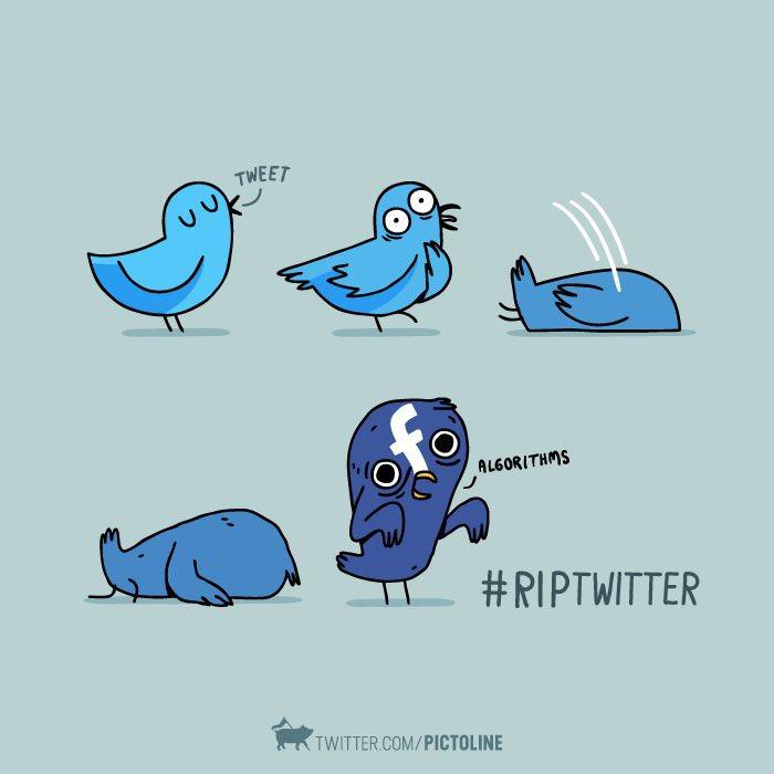 #RIPTwitter: пользователи соцсети приняли новости о смене алгоритма формирования ленты в штыки